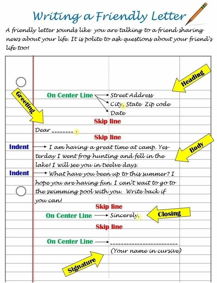 Letter Format For 6Th Graders | World Of Example with Letter Format For 6Th Graders 20961