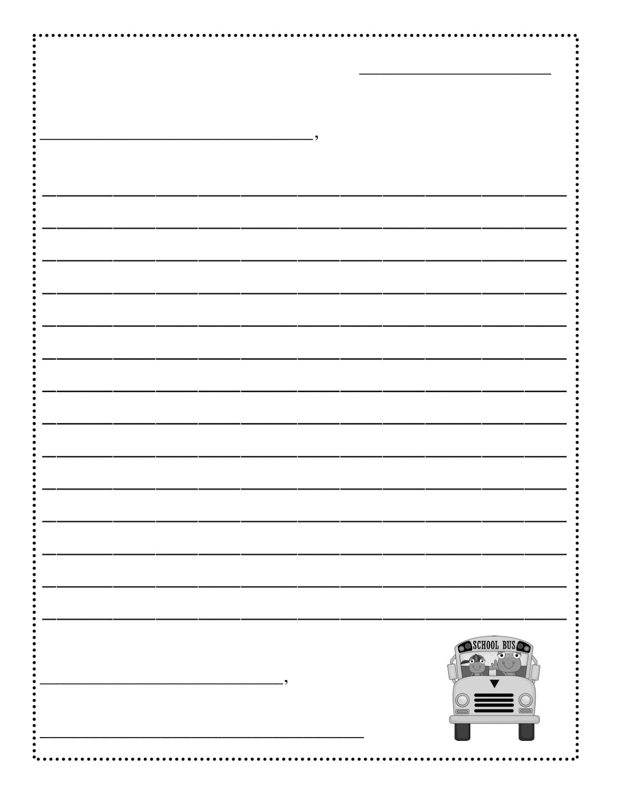 Letter Template For Kids Printable - Fieldstation.co with Letter Format For Kids 19976