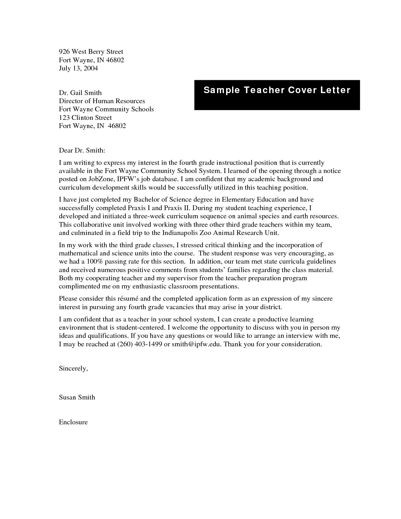 Letter Templates For Teachers - Fieldstation.co for Formal Letter Format To A Teacher 20036
