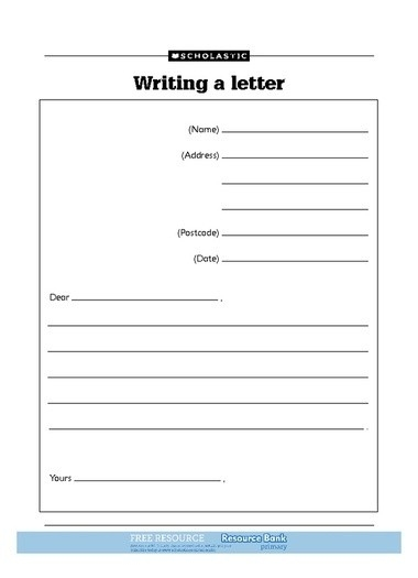 Letter Writing Format For Kids | Letters Example pertaining to Letter Format For Kids 19976
