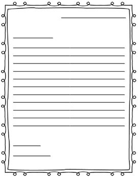 Letter Writing Paper (Friendly Letter) By Jenny Adkins | Tpt for Friendly Letter Format Printable 22444