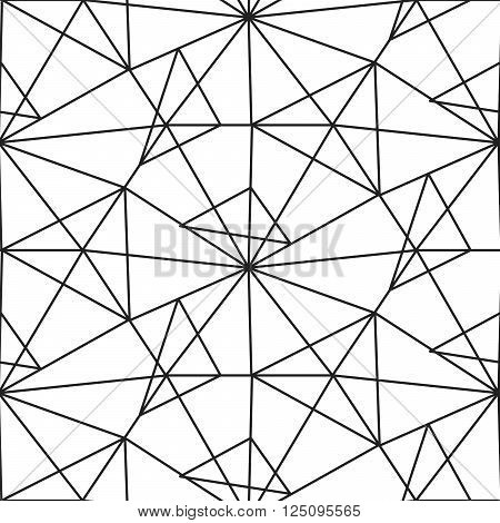 Linear Triangles Seamless Pattern Vector & Photo | Bigstock regarding Geometric Shapes Design Black And White 24453