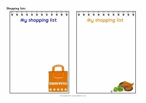 Lists Writing Frames And Printable Page Borders Ks1 & Ks2 - Sparklebox intended for Shopping List Template For Kids 22074