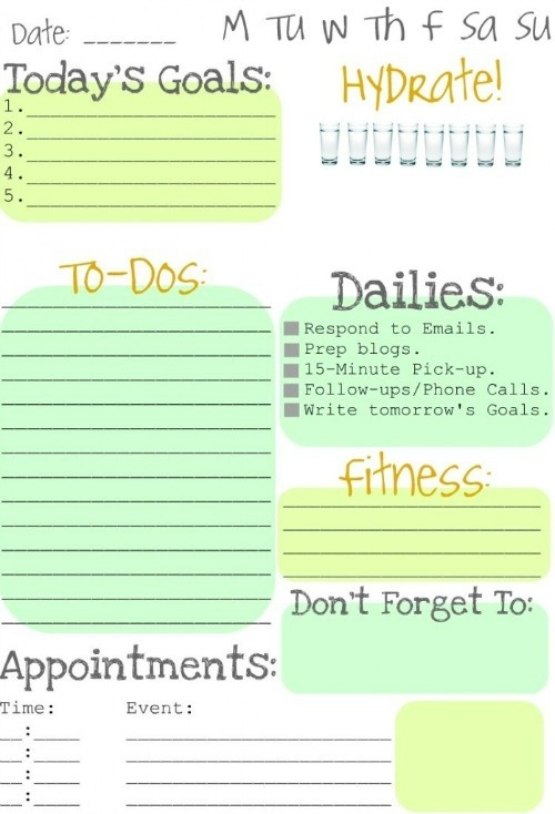 Making To Do Lists Fun - Clean And Scentsible within Cute Daily To Do List 21422