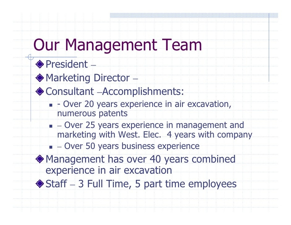 Management Team Business Plan | Business Plan Template pertaining to Management Team Example 21371