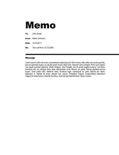 Memo Format [Bonus: 48 Memo Templates] inside Memo Format Example In Word 23085