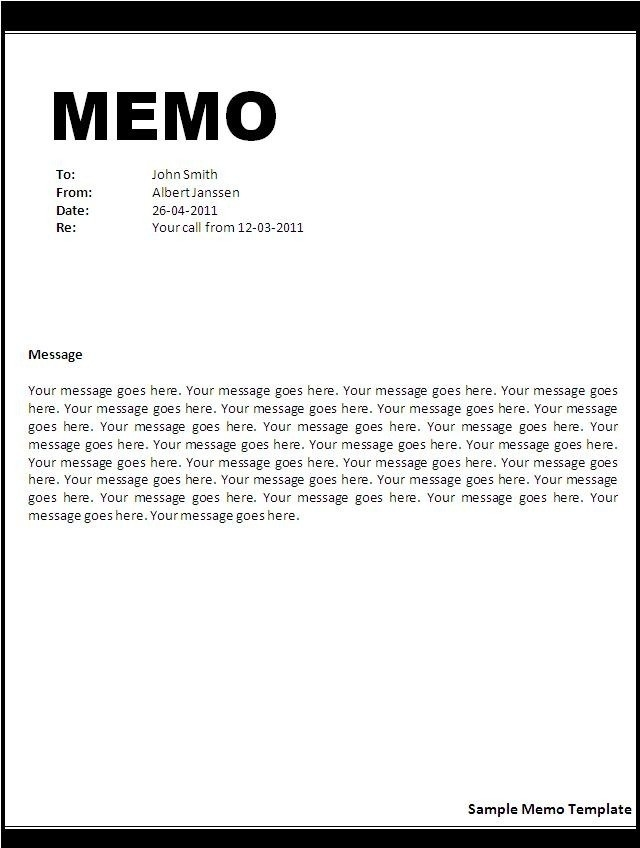 Memo Format Example In Word | World Of Example with Memo Format Example In Word 23085