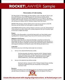 Memorandum Of Understanding Form - Mou Template (With Sample) intended for Memorandum Of Understanding Format 22975