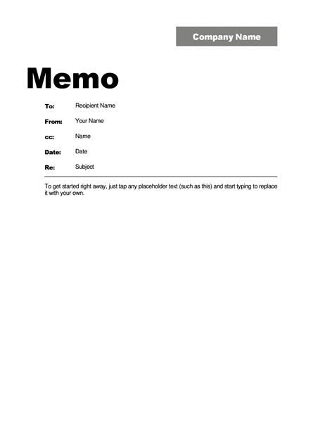 Memos - Office with Business Memo Format Microsoft Word 22604