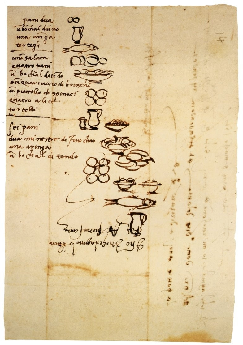 Michelangelo's Handwritten 16Th-Century Grocery List | Open Culture for Handwritten Shopping List 21681