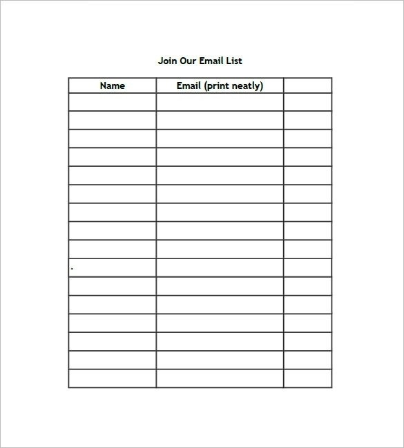 Name List Template   World Of Example throughout Name List Template 20368