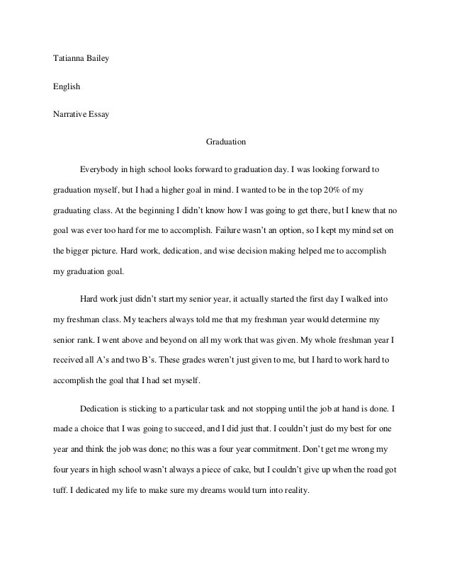 personal narrative essay examples high school   essay