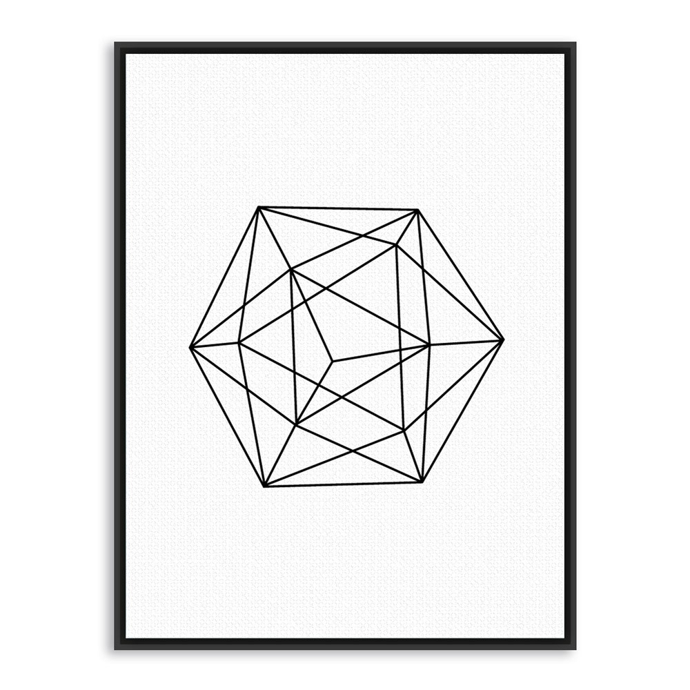 Nordic Minimalist Black White Geometric Shape Art Prints Poster regarding Geometric Shapes Art Black And White 24483