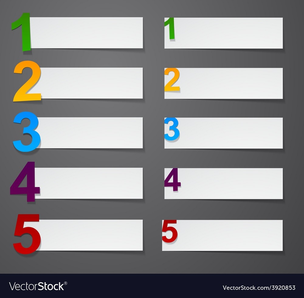 Numbered List Design Royalty Free Vector Image for Numbered List Design 20438