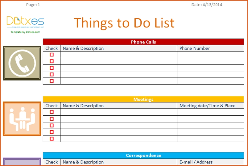 Office To Do List Template - Asafon.ggec.co for Office To Do List Template 22664