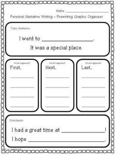 Opinion Organizer Freebies! Freebiesssssssss! - 1St Grade Is with Personal Narrative Examples 1St Grade 21361
