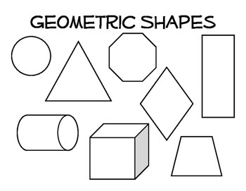Organic And Geometric Shape Coloring Page By Excuse The Mess | Tpt inside Organic Shape Examples 23877