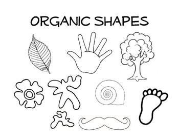 Organic And Geometric Shape Coloring Page By Excuse The Mess | Tpt within Organic Shape 23626