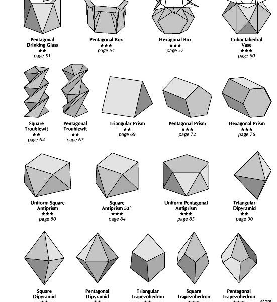 Origami & Geometry By John Montroll With Complex 2D Geometric in Complex 2D Geometric Shapes 24613