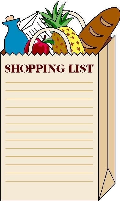 Paper Clipart Shopping List – Pencil And In Color Paper Clipart inside Shopping List Clipart 20308