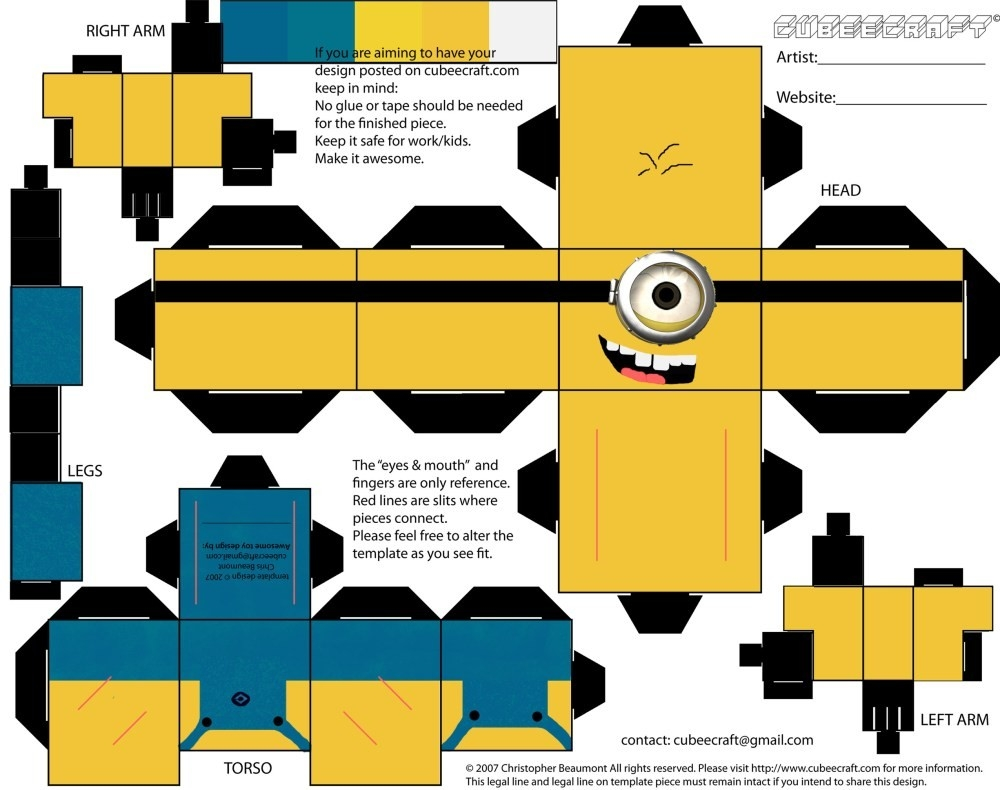 Paper Craft | Craft, Paper Toys And Papercraft within 3D Paper Crafts Templates 19533