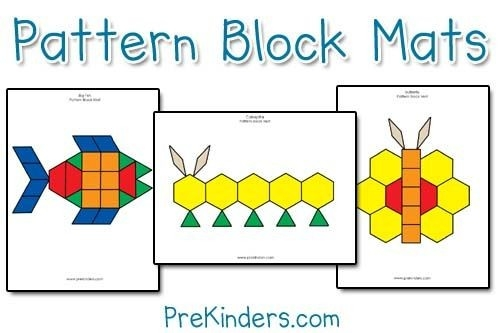 Pattern Block Mats | Pattern Blocks, Patterns And Math for Geometric Shapes Patterns For Kids 24463