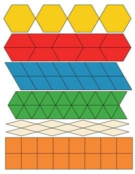 Pattern Block Shapes - Triangles | Math Printables | Pinterest throughout Geometric Shapes Patterns For Kids 24463