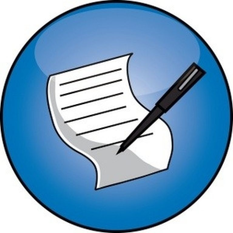 Pen And Paper Clipart Image – Pen Signing A Document Or Report with regard to Writing A List Clipart 20318