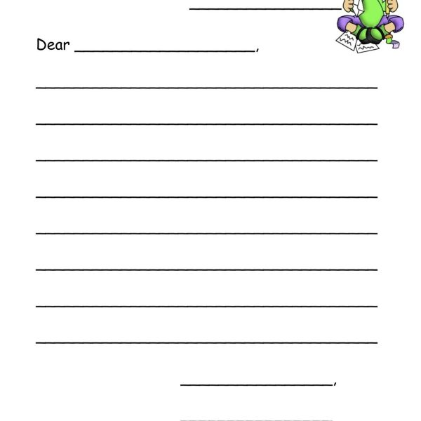 personal letter template for kids
