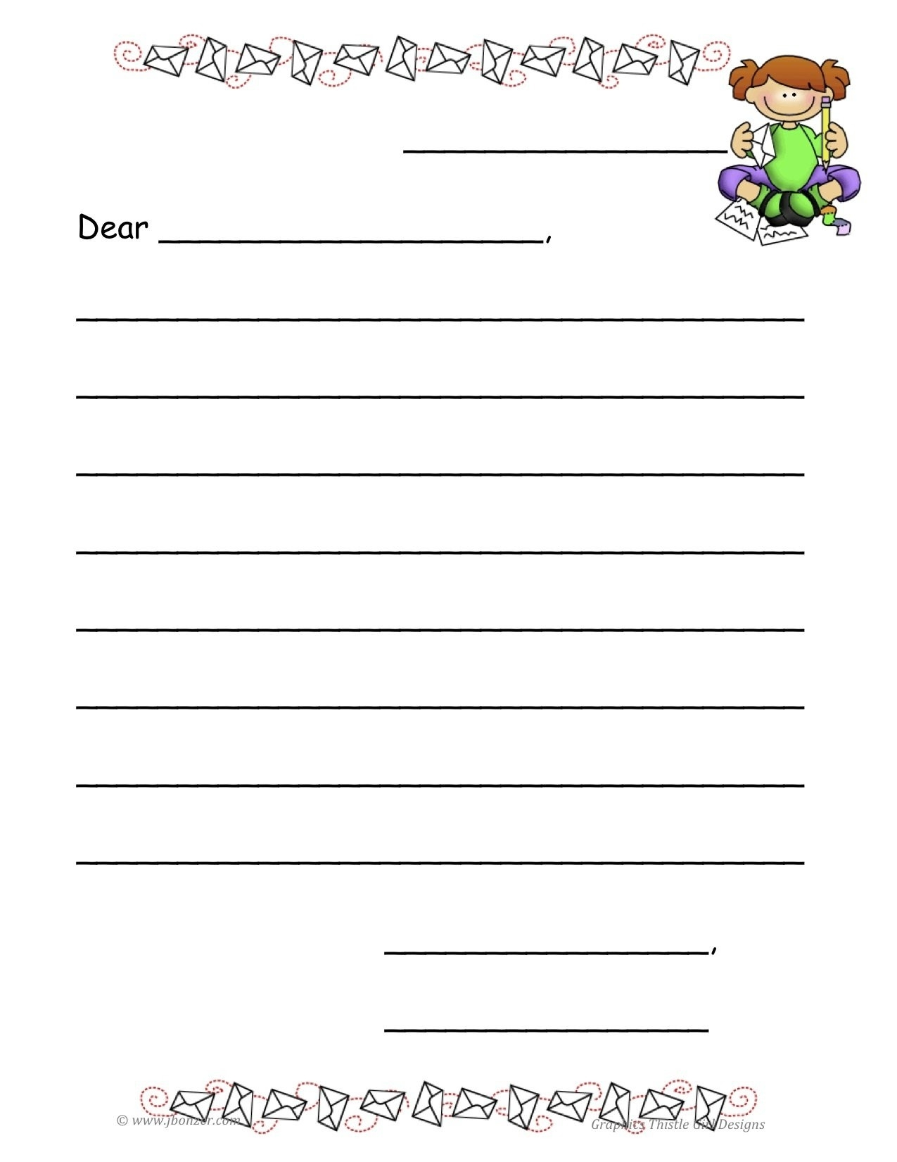 Personal Letter Template For Kids | Template Idea intended for Personal Letter Format For Kids 20158