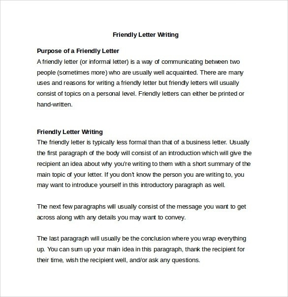 Personal Letter To A Friend Format | Examples and Forms