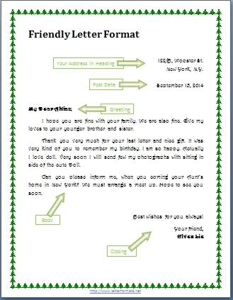 personal letter to a friend format world of example intended for personal letter format