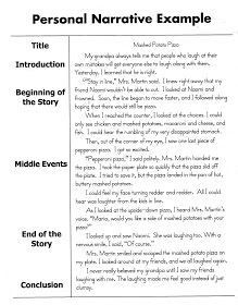 Personal Narrative Essay Sample | High School English | Pinterest regarding Personal Narrative Examples High School 21311