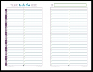 Personal Planner - Free Printables in Printable Weekly To Do List 21571