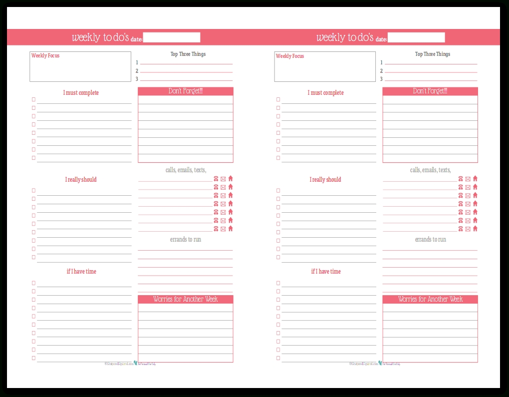Plan Your Week With The New Weekly To-Do List Planner Printables inside Weekly To Do List 20258