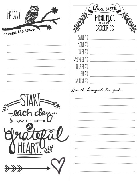 Planning For Peace {Free Calendar And Daily Checklist Printables inside Cute Printable To Do Lists Black And White 22734