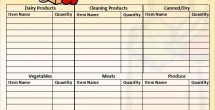 Shopping List Template With Prices
