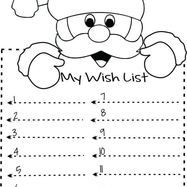 photo regarding Printable Santa List identified as Print Out Xmas Motivation Checklist Toward Santa Publish Template Young children
