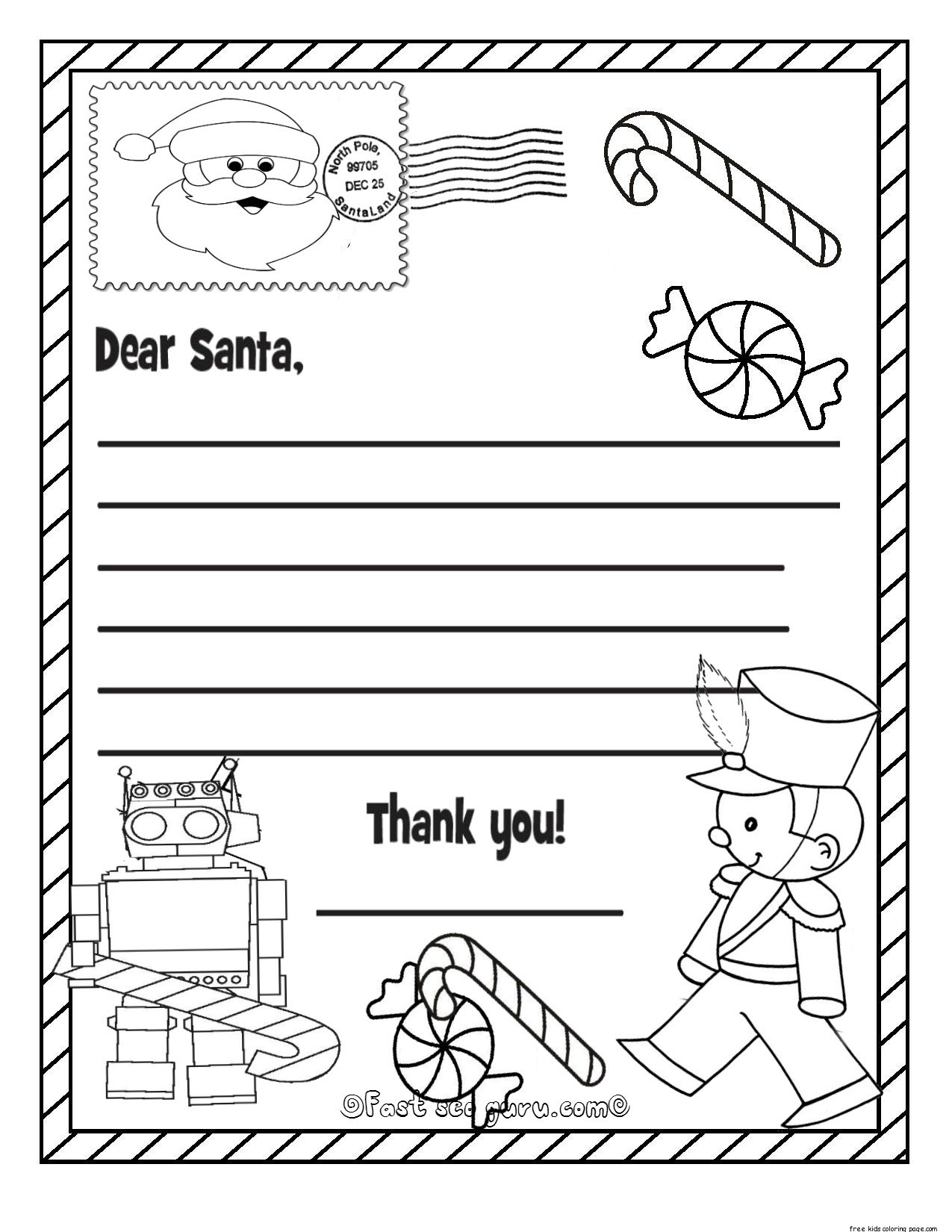 Printable Christmas List Coloring | World Of Example in Printable Christmas List Black And White 24303