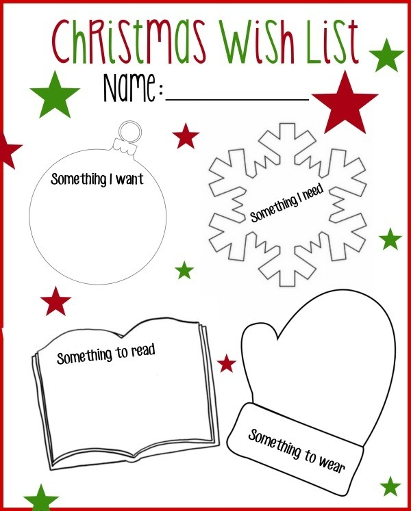 Printable Christmas Wish List: Want, Read, Wear, Need regarding Printable Christmas List Want Need Wear Read 24333