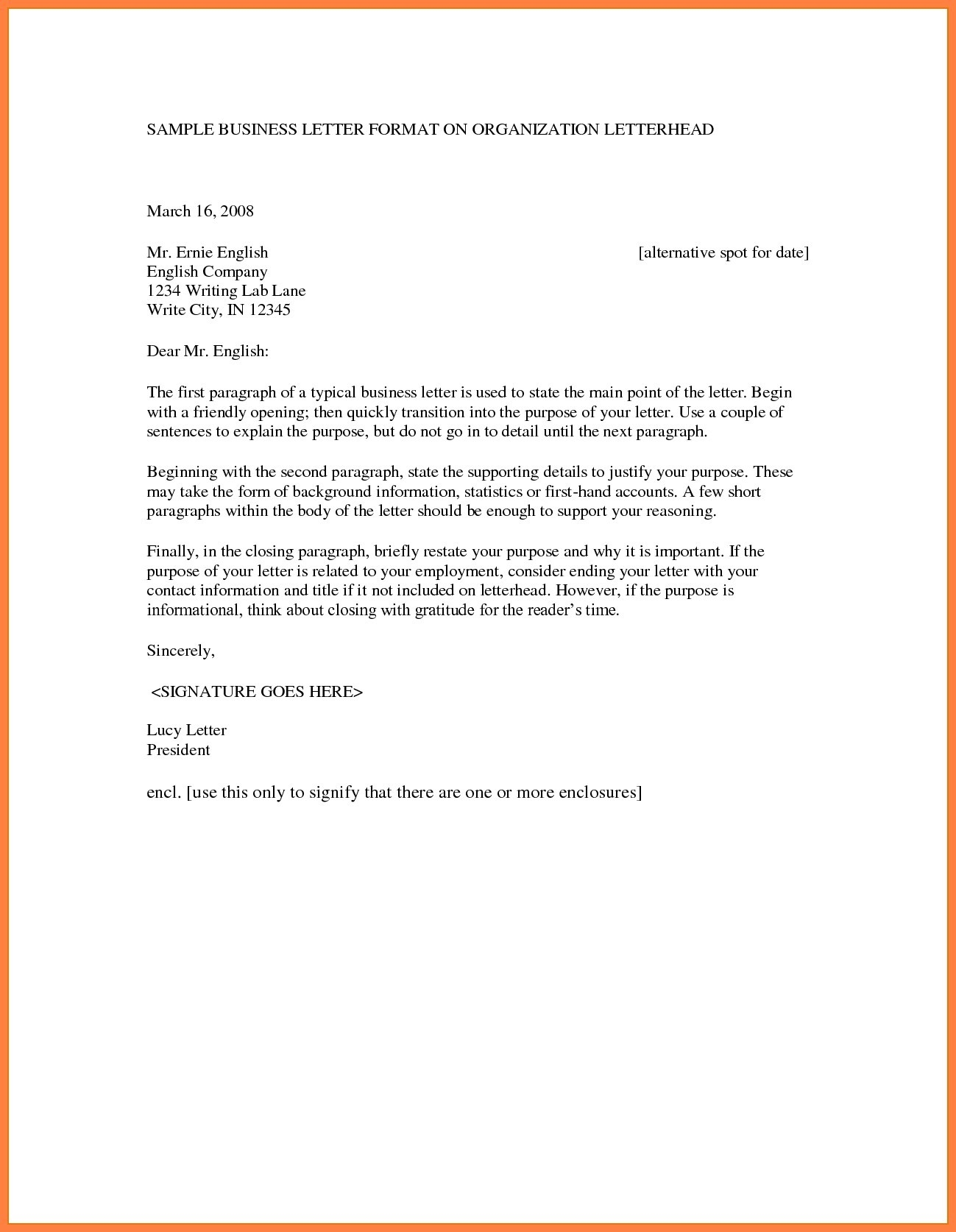 Formal Letter Format With Letterhead Examples And Forms