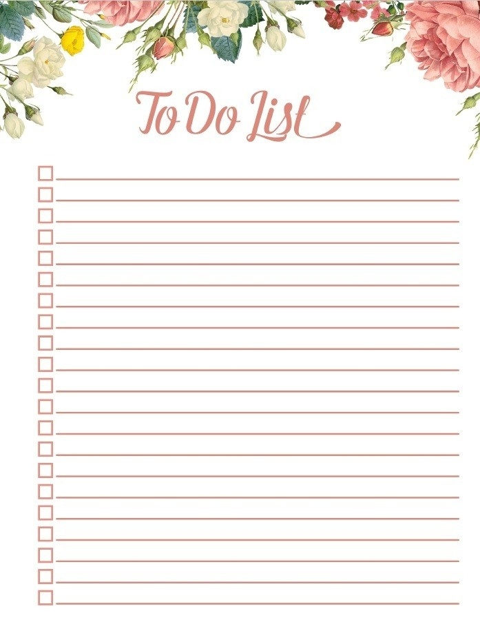 Printable To Do List Vintage | World Of Example with regard to Printable To Do List Vintage 21541