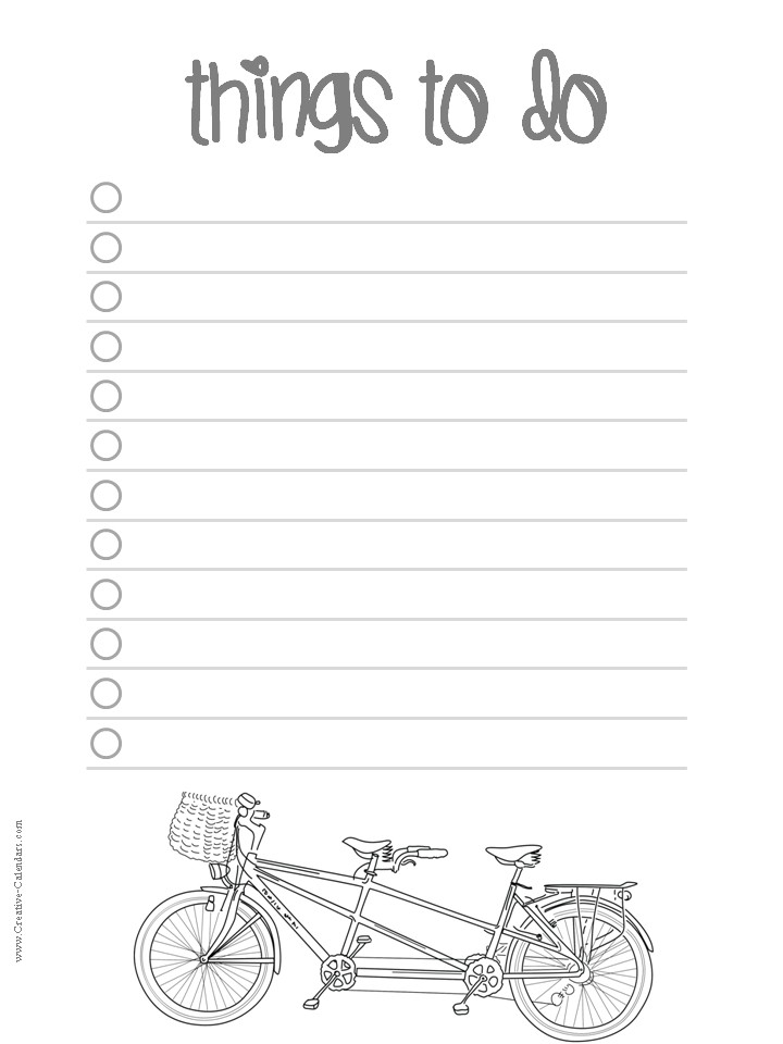 Printable Todo Lists | To Do List | Pinterest | Journaling regarding Cute Printable To Do Lists Black And White 22734