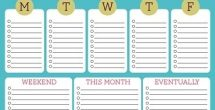 Cute Weekly To Do List
