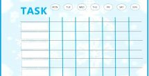 Kids Weekly To Do List Template