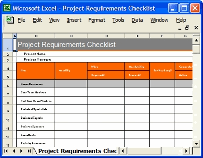 project checklist template excel examples and forms. Black Bedroom Furniture Sets. Home Design Ideas