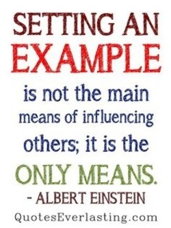 Quotes About Setting An Example (46 Quotes) in Setting A Good Example Quotes 19794
