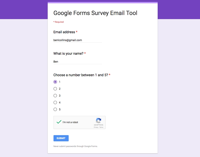 Reply To Google Forms Survey Respondents Direct From Google Sheets intended for Google Forms 23998