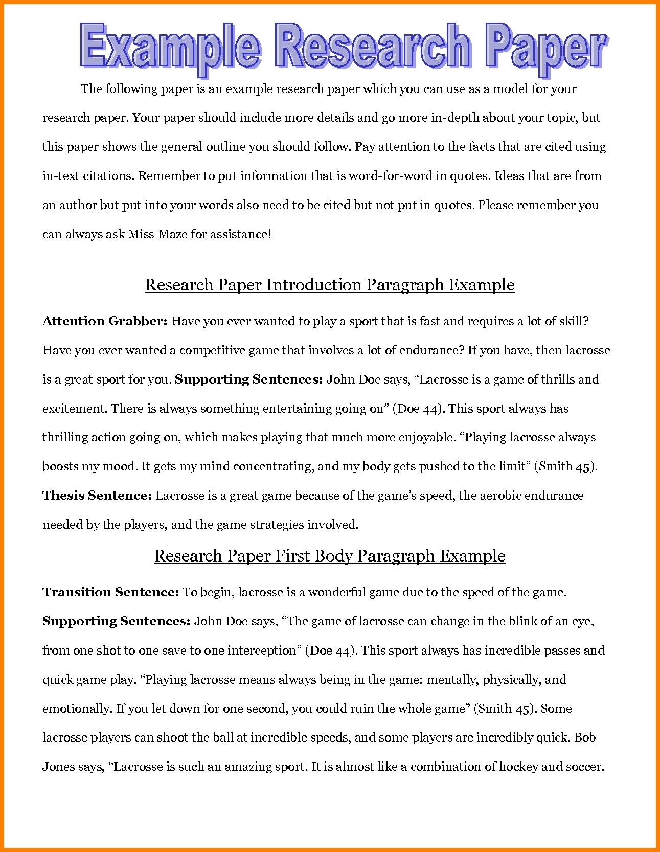 good introduction to an essay examples