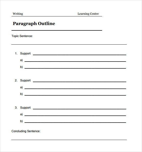 Sample Blank Outline Template - 7+ Free Documents In Pdf, Doc inside Blank Essay Outline Format 22524